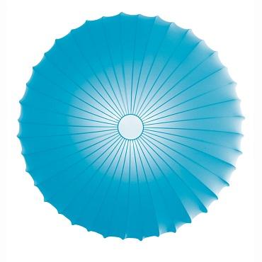 """AXOlight """"Muse"""" светильник потолочный, эластичная моющаяся ткань голубая, D40смХ14см,"""