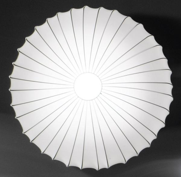 """AXOlight """"Muse"""" светильник потолочный, эластичная моющаяся ткань белая, D40смХ14см, E27 1 x max"""