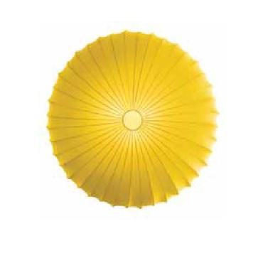 """AXOlight """"Muse"""" светильник потолочный, эластичная моющаяся ткань желтая, D40смХ14см, E27 1 x max"""