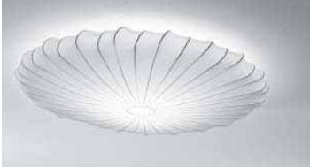 """AXOlight """"Muse"""" светильник потолочный, эластичная моющаяся ткань белая, металлический"""