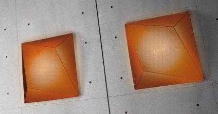 """AXOlight """"UKIYO"""" светильник потолочный, абажур из тех. эластичной двухслойной ткани, оранжевый ф"""