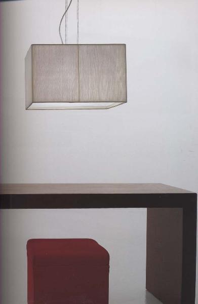 "AXOlight ""Clavius"" светильник подвесной плафон 40х40см, белый шелк, хром, E27 4 x 60 W"