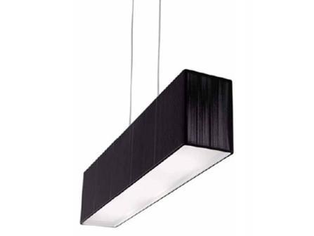 """AXOlight """"Clavius"""" светильник подвесной плафон 60х15см, высота 140см, шелк черного цве"""