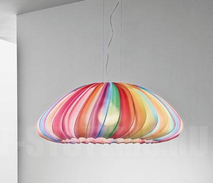 """AXOlight """"MUSE"""" светильник подвесной регулируемый, разноцветный абажур из моющейся эластичной тк"""