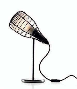 Светильник настольный Foscarini CAGE MIC TAVOLO NERO LI0214 10 E