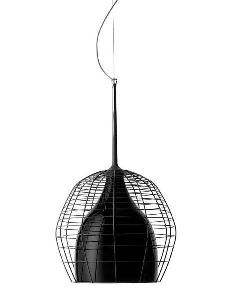 Светильник подвесной Foscarini CAGE GRANDE SOSP.NERO/NERO LI0272 20 E