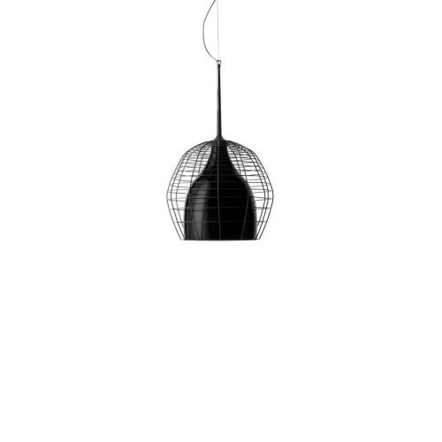 Светильник подвесной Foscarini CAGE PICCOLA SOSP.NERO/NERO LI0275 20 E