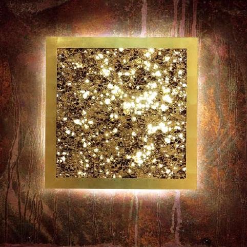Светильник настенный Evi Style Groove Q55 gold/sv