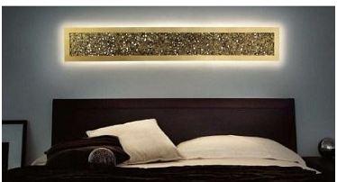 Светильник настенный Evi Style Groove R160 gold leaf