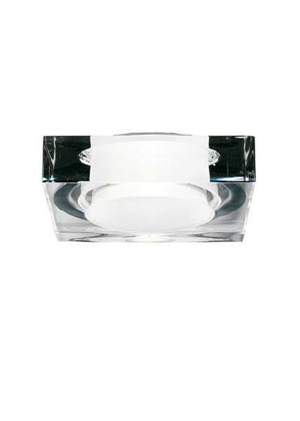 """D27 F09 00 Fabbian Светильник встроенный """"Lui"""" 1х75W GU10, 11.5х11.5х3cm, прозрачное стекло"""