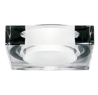 """D27 F10 00 Fabbian Светильник встроенный """"Lui"""" 1х 50W/GU3.5 прозрач стекло"""