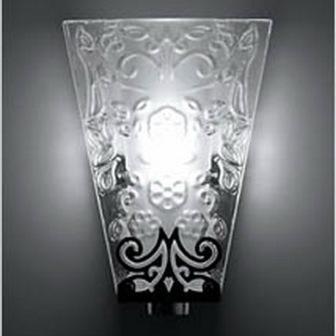 "D69 D01 00 Fabbian Светильник настенный ""Swirl"", ᴓ22сm h20х11cm, 1х100W R7s , прозрачное стекло"