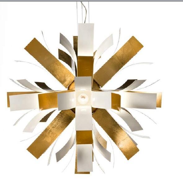 Светильник потолочный Facon de venise Bloom SO 120 bianco/foglia oro