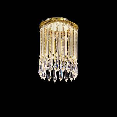 Светильник встраиваемый Faustig 01020.2/1 silver plated + SW Strass