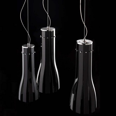 Светильник потолочный Florian RAPÀLA SOSPENSIONE/HANGING LAMP NERO (F1.012)