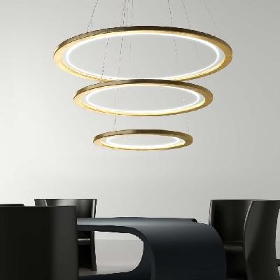 Светильник потолочный Florian Free X3 / 80SOSPENSIONE/HANGING LAMP FOGLIA ORO (F1.060)