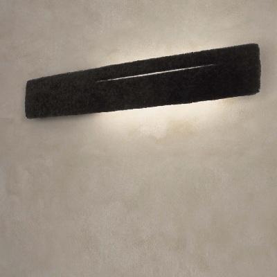 Светильник настенный Florian SKIN PARETE / WALL SHEARLING LISCIO NERO/BLACK SMOOTH (F3.063)