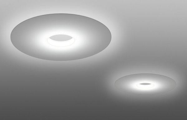128005 10 Foscarini светильник потолочный Ellepi, D 74см, Н 6,5см, 1x55W 2GX13 не вкл, метакрила