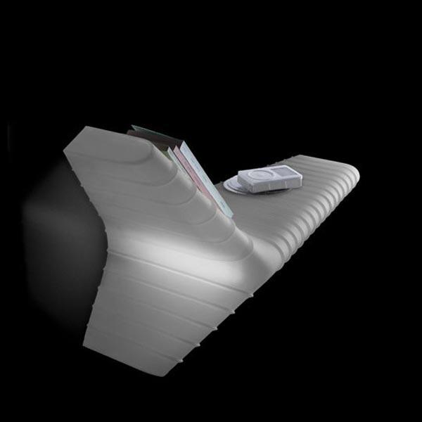 135005 10 Foscarini светильник настенный Yet, диффузор из поликарбоната белого цвета, 62х35х27см