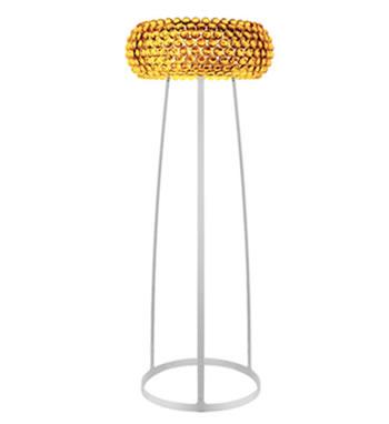 138003 52 Foscarini торшер Caboche media, желто-золотые шарики, D 50см, Н 20/154см, 1х160W R7s 1