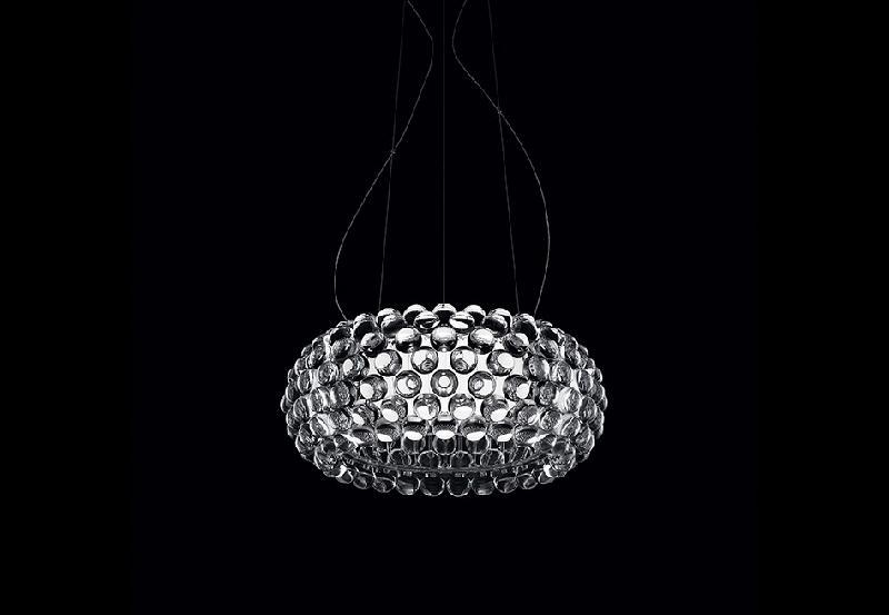 138007 16 Foscarini Светильник подвесной CABOCHE MEDIA, прозрачные декоративные шарики, диам 50с