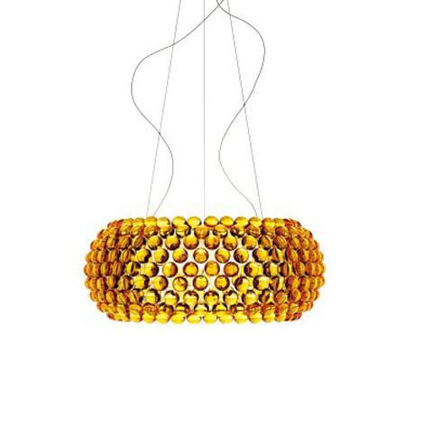 Светильник подвесной Foscarini CABOCHE GRANDE SOSPENSIONE GIALLO ORO 138017 52