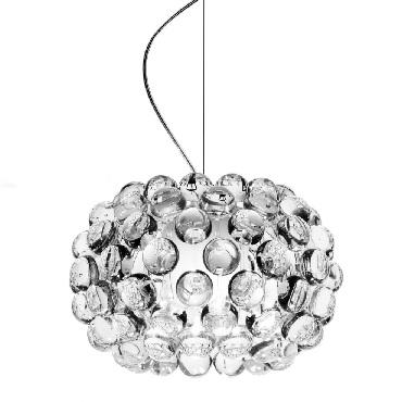 138027 16 Foscarini светильник подвесной Caboche Piccola диам31 см, выс200 см, прозрачный полиме