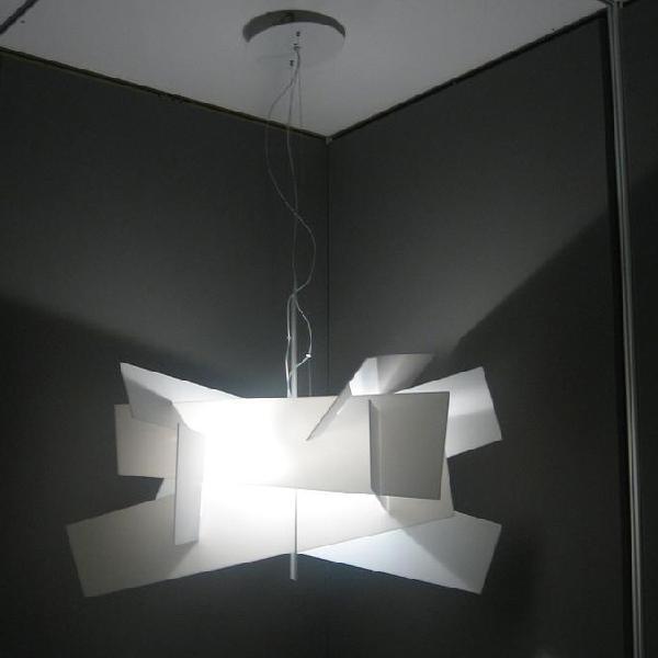 151007 10 Foscarini Светильник подвесной Big Bang, белый металл, 96*66/200 см, 1x26W GX24q-3, бе