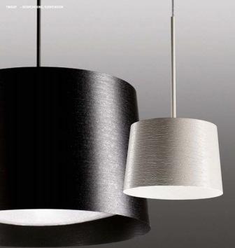 159007 10 Foscarini светильник подвесной Twiggy grande, стекловолокно, D 46см, Н 29-мах199см, 3x