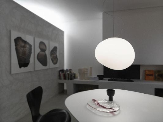 168007 10 Foscarini светильник подвесной Gregg Media, плафон из стекла белого цвета, D 31см, Н 2