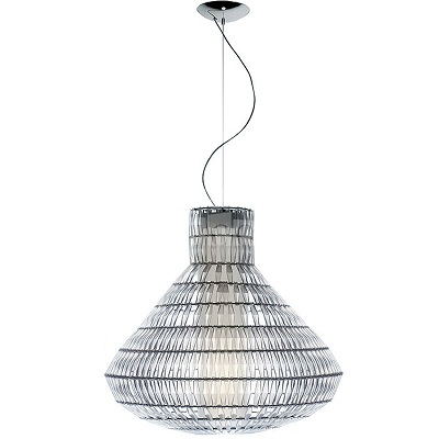 179071 16 Foscarini светильник подвесной Tropico Bell плафон из пластика прозрачного цвета, D70с