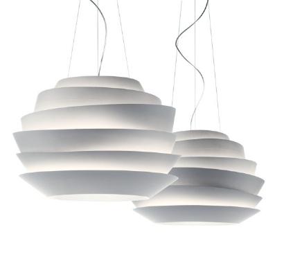 181007 10 Foscarini Светильник подвесной Le Soleil, белый поликарбонат, D 62см, Н 43/200см, 3x60