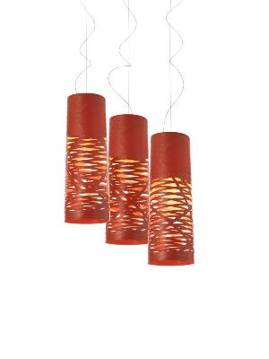 Светильник подвесной Foscarini TRESS PICCOLA SOSPENSIONE ROSSO 182027 63