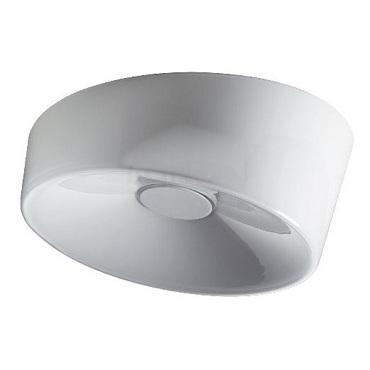 191005 11 Foscarini Светильник потолочный Lumiere XXL, белое стекло, D 34см, Н 13см, 1x40W+1