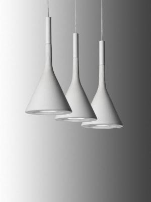 195007 10 Foscarini Светильник подвесной Aplomb, D 16,5см, Н 35,5-мах200см, 1x60W G9, бетон бело