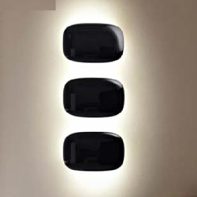 2070052 20 Foscarini бра TIVU, поликарбонат черный, 17*13*6см, 1x20W G9