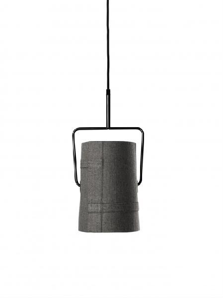 LI0472 25 E Foscarini Светильник подвесной Fork piccola, серый тканевый абажур, D 22см, Н 40/200