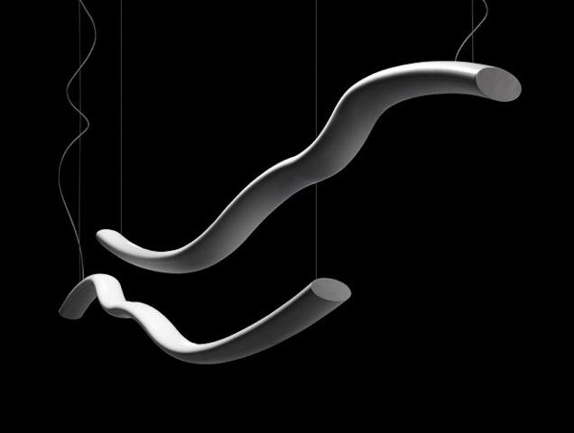 Светильник подвесной Foscarini Wave sospensione nero