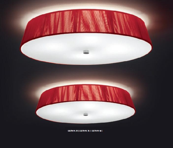 0102052363602 Leucos Studio светильник потолочный Lilith PL, х/б нити белого цвета+сатин сте