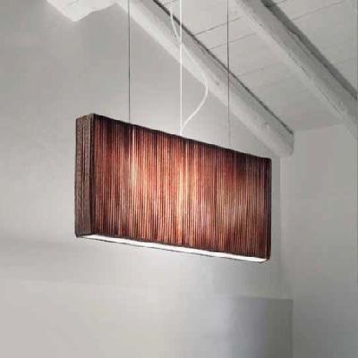 0103093055002 Leucos Studio подвес Vanity S1,прямой абажур из ткани мокко 12x70x30, h - 190, 3х6