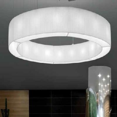 0103096053602 Leucos Studio модуль подвесной изогнутый Vanity 2, абажур из белой ткани, H 30/160