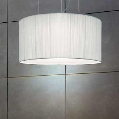 0103098053602 Leucos Studio подвес Regency S, абажур из ткани - белый , Ø85см, H120см, 6х75W E27