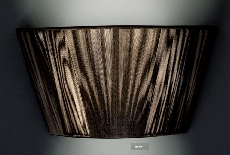 0105052053801 Leucos Studio бра Lilight Pхлопчато-бумажные нити черного цвета, 19х36 см, 3х40W E