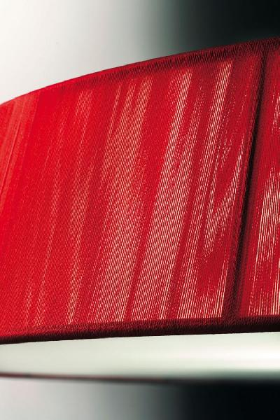 0105052054301 Leucos Studio бра Lilith P, хлопчатобумажные нити в цвете красный, размер 36х13х19