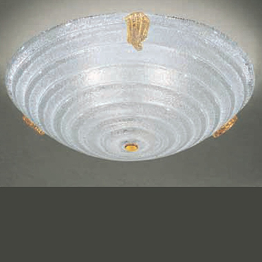 """0202179363501 Leucos Modo светильник потолочный Flaminia PL40, прозрачное """"graniglia""""/белый+"""