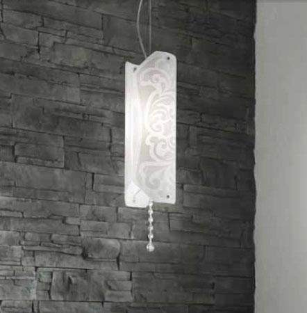 0203005055202 Leucos Modo светильник подвесной Charme S, белый/белый, D12cm H150cm, 1x100W E27,