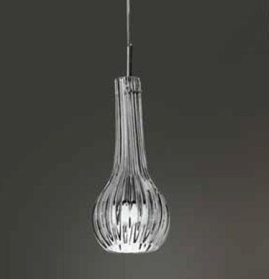 0203189063901 Leucos Modo светильник подвесной ATHENA S1, янтарное стекло, d=13cm, h=110cm, 1x60