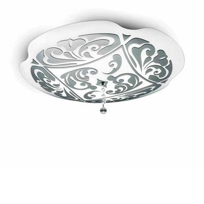 0204010363309 Leucos Modo светильник настенно-потолочный Charme P-PL 50, белый/платина, диам 50с