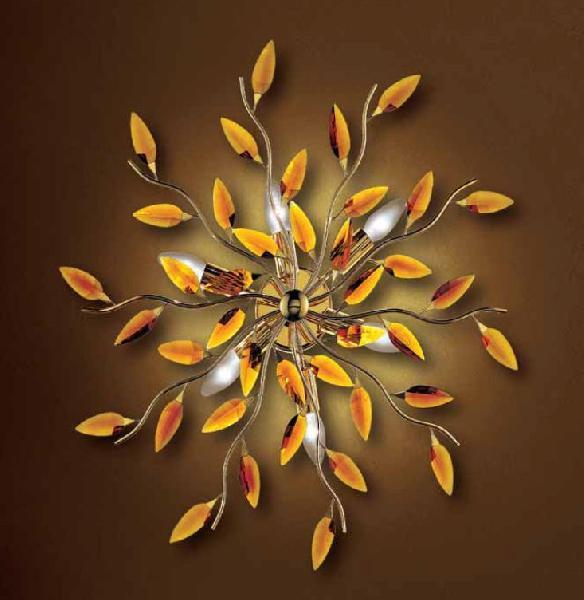 0204280063901 Leucos Modo Бра/светильник потолочный Astree P PL10, янтарь, диам 130см, 10x40W E1