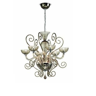 0209246013409 Leucos Modo светильник подвесной Bolero L3, прозрачное стекло, d=55cm, h=100cm, 3x